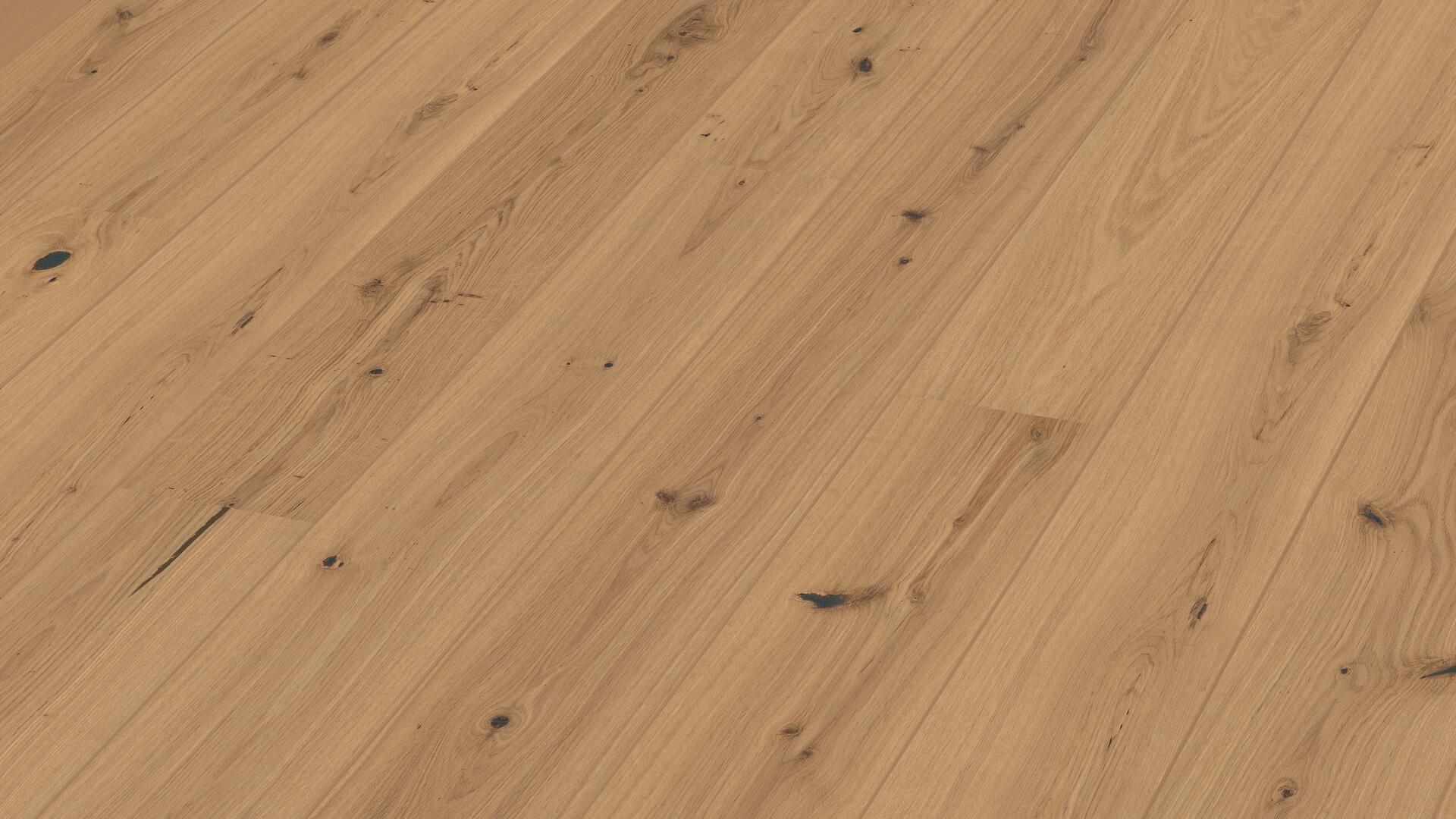 Parquet flooring MeisterParquet. longlife PD 400 Gently smoked pure vital oak 8814