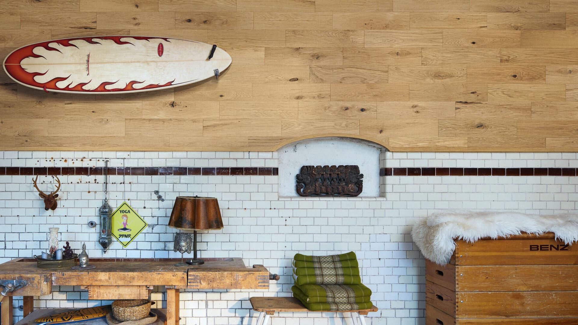 Real wood panels Raw oak