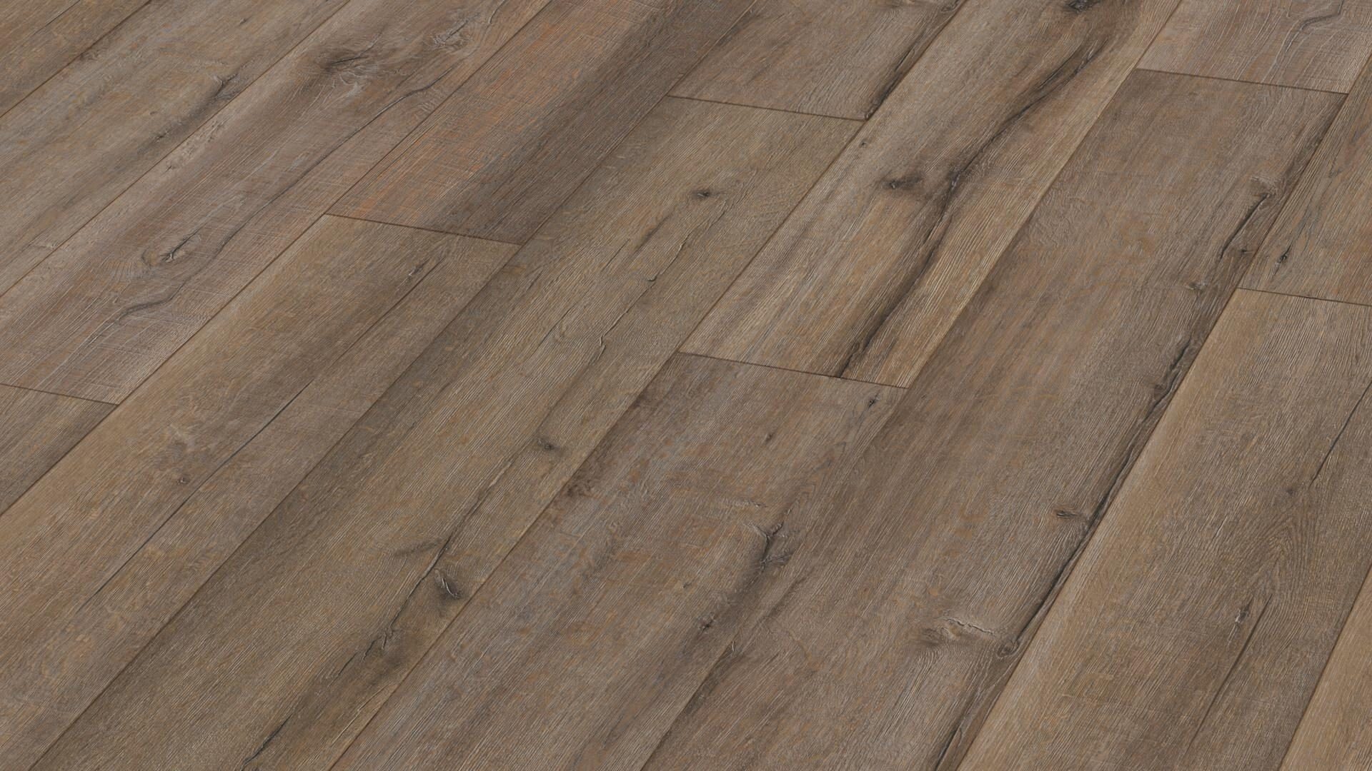 Suelo de diseño MeisterDesign. flex DL 400 Roble madera vieja gris barro 6986