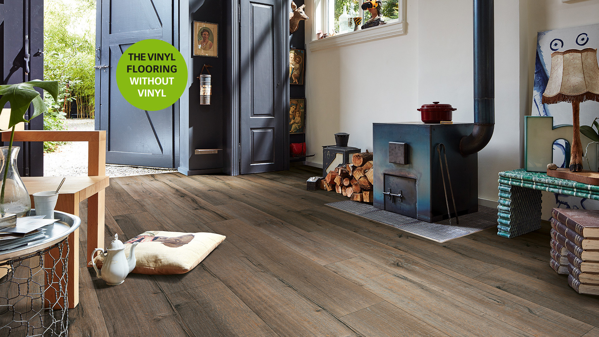 Vinyl flooring without vinyl